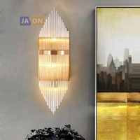 LED Nordic Iron Crystal Gold Clear LED Lamp LED Light Wall lamp Wall Light Wall Sconce For Bedroom Corridor