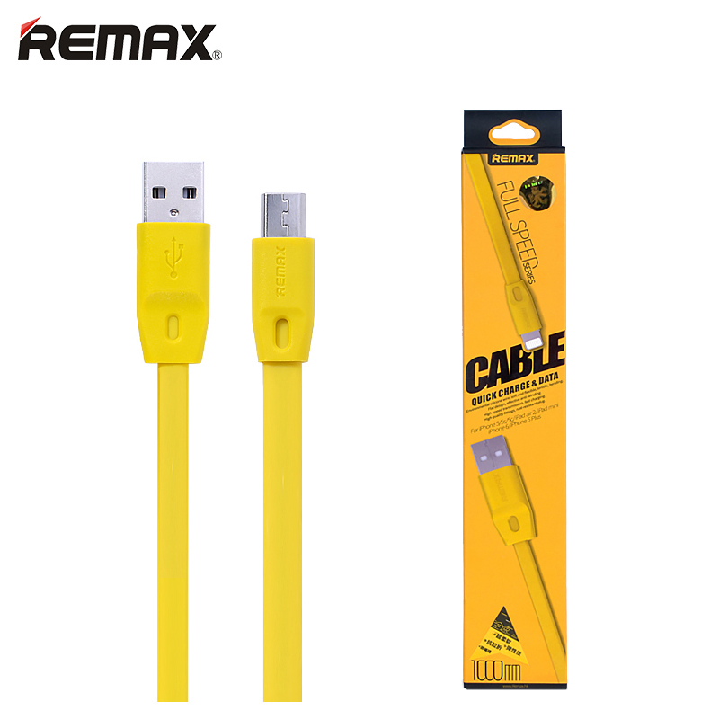 Original Remax Mobile Phone Micro USB Cable Fast Charging Charger High-speed Data Transmission Sync For Samsung Xiaomi Cellphone