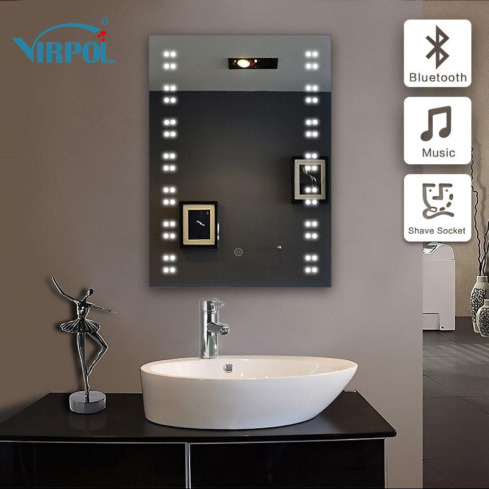 Miroir Salle De Bain Avec Prise Rasoir   Reglette Salle De Bain Avec ...