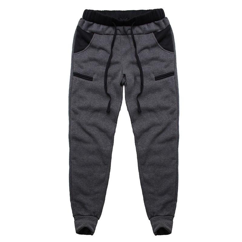 Winter Warm Thick Sweatpants Men's Track Pants Elastic Casual Baggy Lined Tracksuit Trousers Jogger Harem Pants Men Plus Size 13