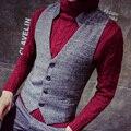 mens fashion slim vest men 2017 fashion vintage light color brief all-match fashion vest