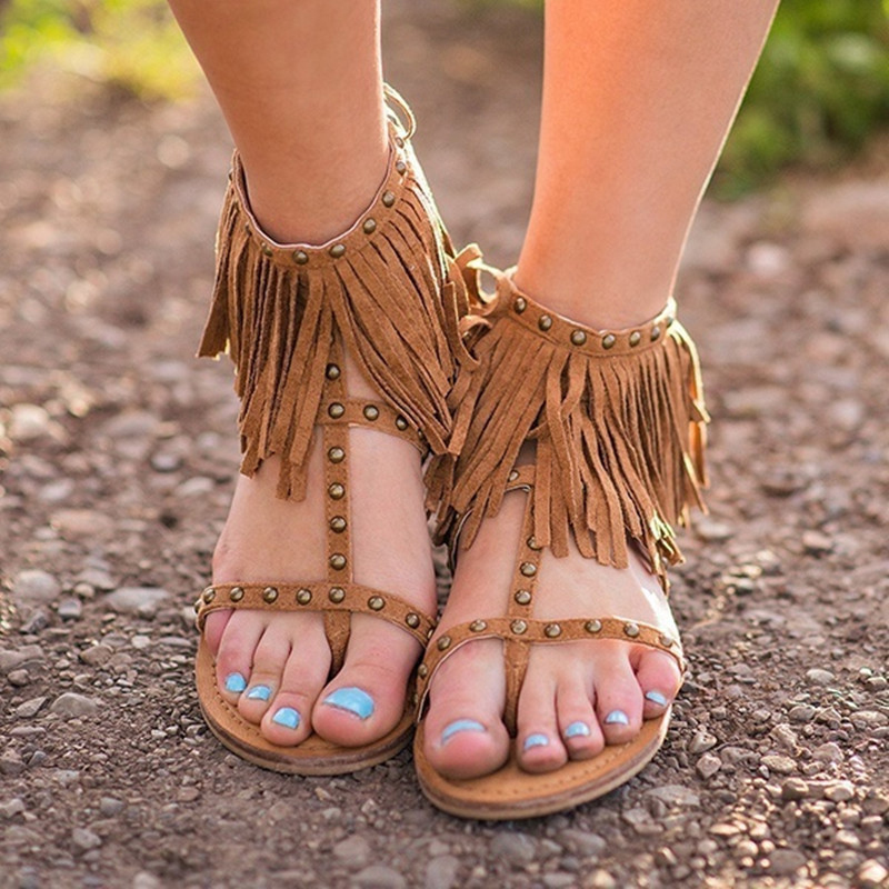 Summer Gladiator Casual Flat Sandals For Women Leather Peep Toe Casual Shoes Slippers Footwear Flats Beach Casual Sandals free shipping fashion 2018 new summer women shoes casual sandals genuine leather flats sandals beach slippers soft comfortable