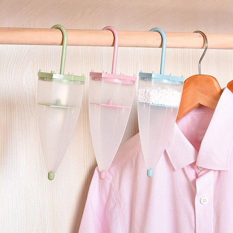 Wardrobe Hanging Dehumidifier Damp Trap Umbrella Shape Air Moisture Mildew Absorb 899