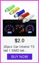 20pcs Car Interior T5 led 1 SMD led Dashboard Wedge 1LED Car Light t5 Bulb Lamp led t5 12v Yellow/Blue/green/red/white led