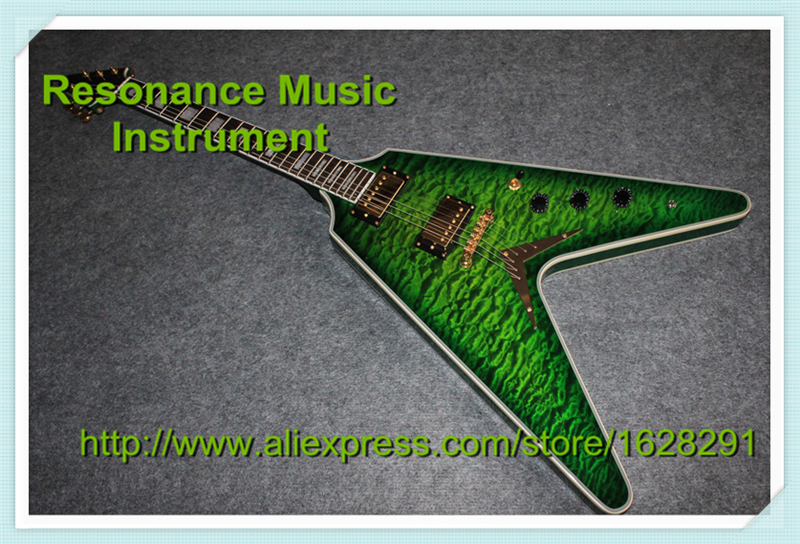 High Quality Customed Design China Electric Guitar Flying V from 1958 Model & Left Hand Available delicate faux turquoise geometric sweater chain for women