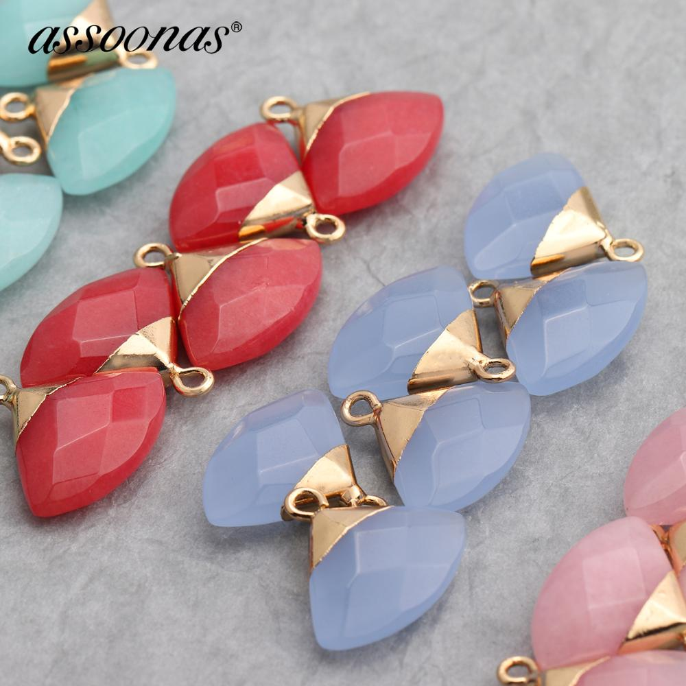 Assoonas M397,jewelry Accessories,natural Stone,diy Pendant,jewelry Findings,hand Made,diy Earrings,jewelry Making,6pcs/lot