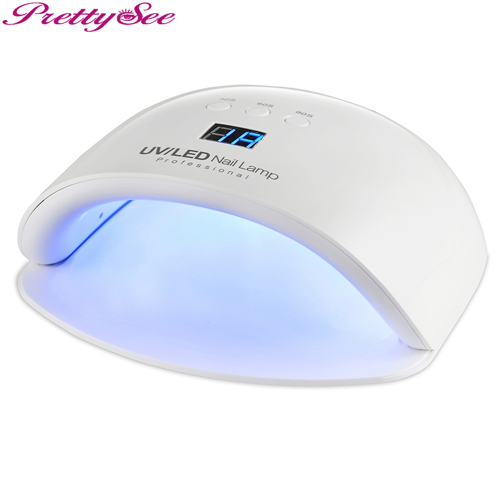 PRETTYSEE Professional Electric 24W UV Lamp Gel Nail Polish Dryer Led Light For Nail Gel Led Lamp Nail Dryer new professional dc 12v 2a 24w uv led nail lamp nail dryer unique design intelligent induction three setting buttons an adapter