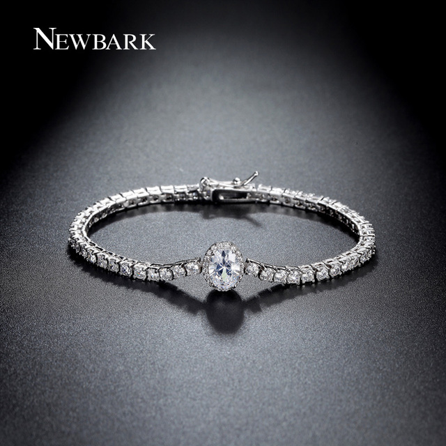 NEWBARK 4Colors Trendy Bracelet New Design Party Jewelry Cubic Zirconia Bracelets For Women Wedding Jewelry For Christmas