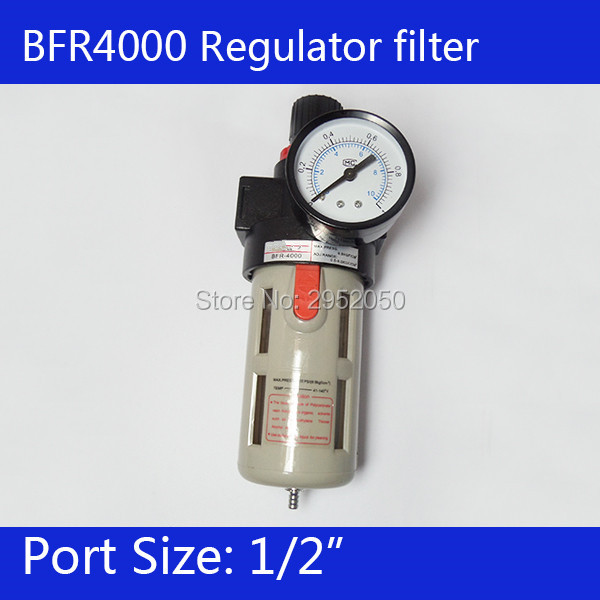 Free Shipping 1/2 Pneumatic Source Treatment Unit BFR4000 , Air Filter Pressure Regulator 1 4 bfr 2000 air source gas treatment pressure filter regulator model bfr2000 with pressure gauge