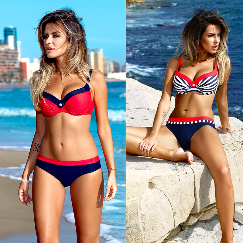 SexeMara sexy push up bikini set XXL two piece girl beach wear bikini 2018 women