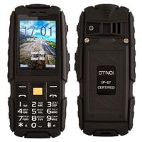 Original DTNO.I A9 IP67 Waterproof shockproof Unlocked Mobile Phone Dual SIM Cellphones 4800mAh Wireless FM Flashlight