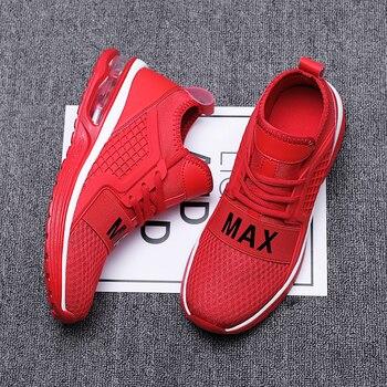 08c83da66fb Мужская Вулканизированная обувь мужская обувь Max 2019 весна лето обувь  Мужская популярная воздушная подушка Мужская обувь белый красный черн.