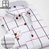 2016 New Oxford Plaid Casual Men's Shirt Slim Fit Formal&Business Occupation Man Shirts Spring Long Sleeve Men Dress Shirt M038
