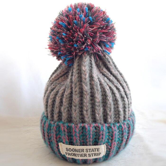 BomHCS Women's Fashion Winter Warm Crochet Beanie Knitted Braided Baggy Lady Hat Cap hot winter beanie knit crochet ski hat plicate baggy oversized slouch unisex cap