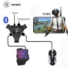 Sovawin PUBG mobil Gamepad denetleyicisi oyun klavye fare dönüştürücü Android telefon PC Bluetooth adaptör fiş ve oyun