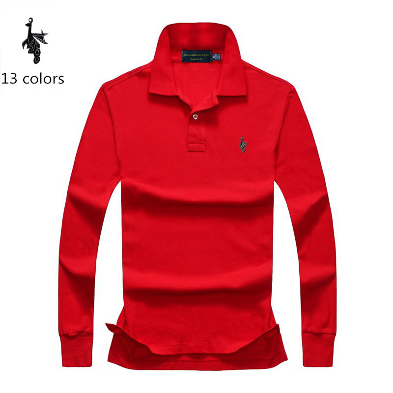 Digital Peacock Polo Shirt Mens embroidered Breathable Camisa Masculina Soft Cotton long sleeve solid Men