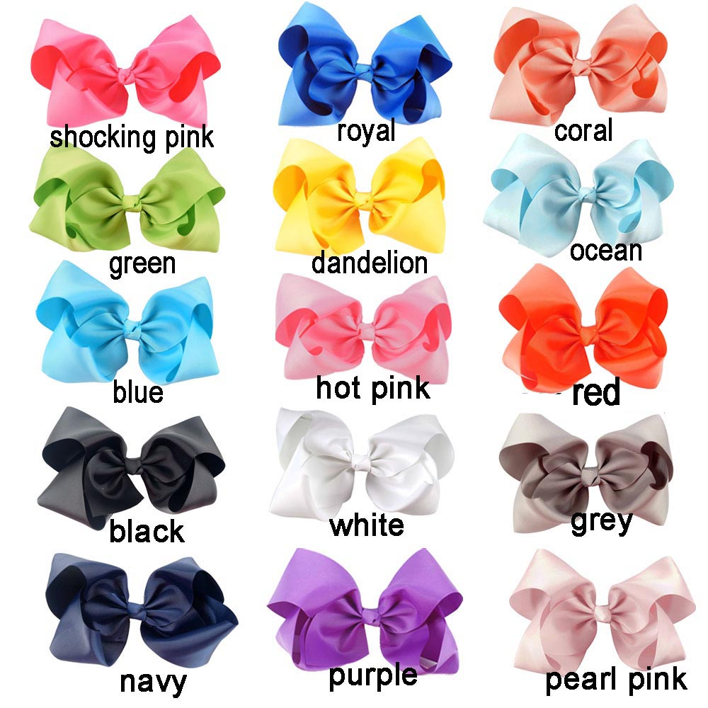 8 Large Solid Grosgrain Ribbon Hair Bow With Clip For Girls Jumbo Hair Bows Girls Hair Accessories 15pcs/lot 8 large solid grosgrain ribbon hair bow with clip for girls jumbo hair bows girls hair accessories 15pcs lot
