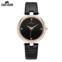 Liber Aedon Rose Gold Elegant Fashion Casual Quarts Women Wriset Watches 2017 Bracelet Watch Ladies