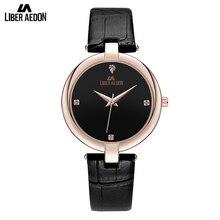 Liber Aedon Fashion Elegant Quarts Women font b Watch b font Rose Gold Women Wrist font