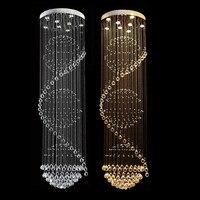 Moderna lâmpada do teto de cristal lustres de sala luminária longa iluminação teto com 7 lâmpadas gu10 mc0546 d500mm h2750mm