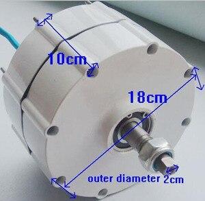 Image 3 - 800W 500r/m Permanent Magnet Generator AC Alternator for Vertical Wind Turbine Generator 24V 48v