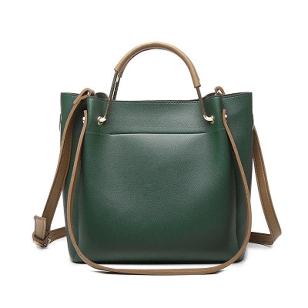 цена на New Women Vintage Bucket Bags For Women 2018 female Luxury Messenger Bag lady simple shoulder bag Quality Leather PU Handbags