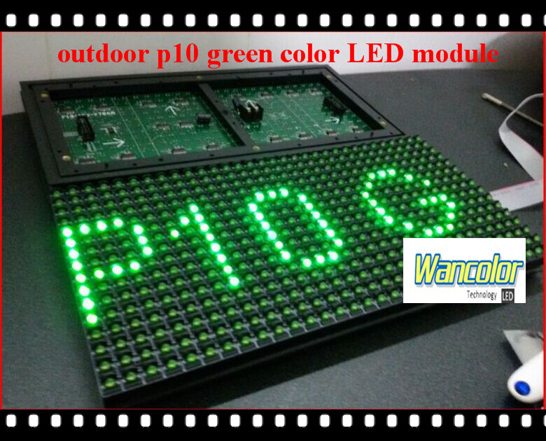 free shipping 2015 Wholesale price outdoor LED display p10 green color shop window led moving text