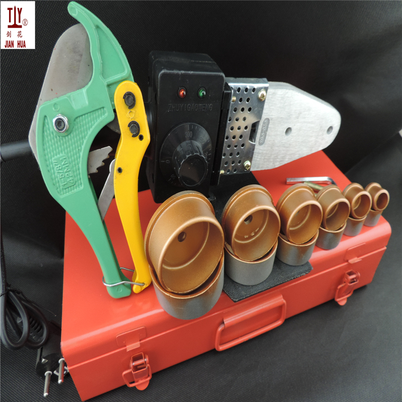 Free Shipping JIANHUA T63 Welding machine for plastic pipes, AC 110/220V 20-63mm PPR Welding Machine With 42mm Scissors free shipping popular plumber tools ordinary molds 20 63mm ppr welding pipes welding machine for heating ppr hot sale in china