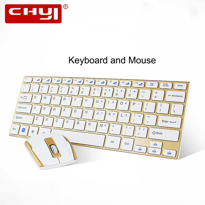 CHYI 2.4Ghz Wireless Keyboard and Mouse Combo Utral-thin Computer Keyboard Mouse with USB Receiver for Desktop Laptop Office Set logitech wireless combo mk520 with keyboard and mouse