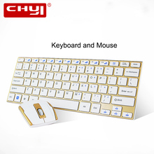 CHYI 2.4Ghz Wireless Keyboard and Mouse Combo Utral-thin Computer Keyboard Mouse with USB Receiver for Desktop Laptop Office Set