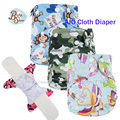Newborn Baby Diaper Washable Reusable Cover All In One Bamboo Fiber AIO Cloth Nappie Gladbaby Fralda Diaper Cover PUL Waterproof