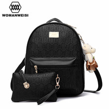 Luxury Leather Women Purse And Backpack Set Creative Chains Shape Design Women's Gift Fashion Portable Female Backpack Back Bag