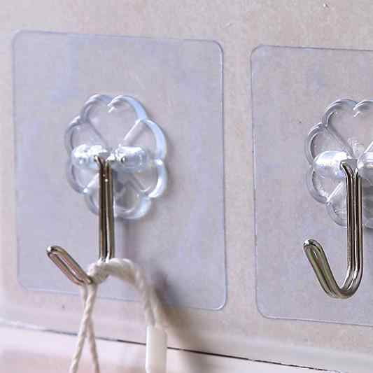 Водонепроницаемый прозрачный и сильный клеющийся крючок за дверью кухня ногтей бесплатно не знак крюк стены Ванная комната креативный клеющийся крючок