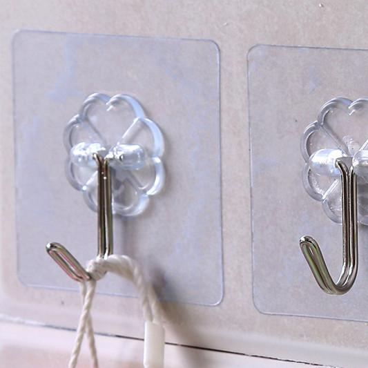Waterproof Transparent And Strong Glue Hook Behind The Door Kitchen Nail Free Non-mark Hook Wall Bathroom Creative Glue Hook