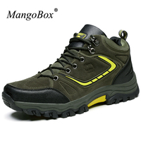 MangoBox 2017 Winter New Hiking Boots Men Shockproof Mens Mountain Boots Anti-Slippery Outdoor Shoes Men Boots Hiking Climbing