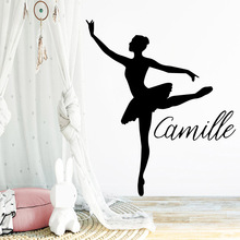 Fun Dancer Custom Name Self Adhesive Vinyl Waterproof Wall Art Decal For Childrens Room Stickers Bedroom Wallpaper