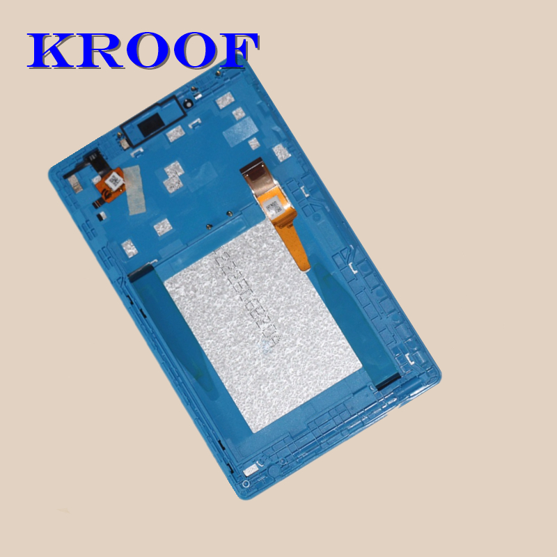 LCD Display+Touch Screen Digitizer Assembly with Frame For Lenovo Tab 3 7.0 710 Essential tab3 710 TB3-710L TB3-710I TB3-710F 7 for lenovo tab3 3 7 730 tb3 730 tb3 730x tb3 730f tb3 730m tab 730 touch screen digitizer lcd screen display assembly frame