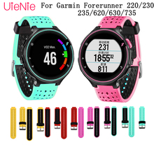 Watch Strap for Garmin Forerunner 220/230/235/620/630/735 Bracelet Running Wristband Replacement Soft Silicone Strap with Tools 21mm soft silicone strap replacement watch bands tools lugs adapters for garmin forerunner 230 235 220 watch watch accessories