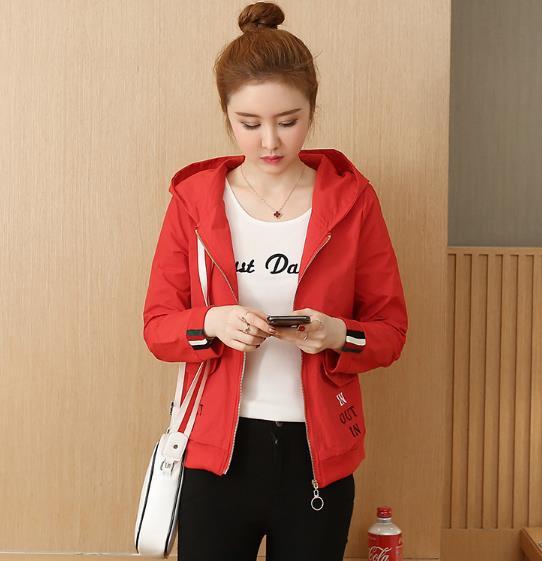 Women's Fashion new Korean version loose wild jacket Outwear baseball uniform short Womens Coat 35
