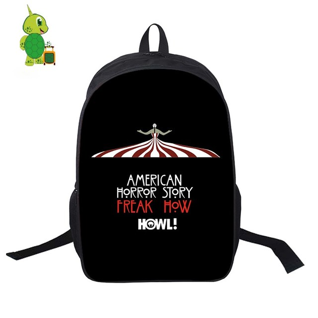 247394e57178 American Horror Story TV Show School Bags Women Men Daily Laptop Backpack  for Teenage Girls Boys