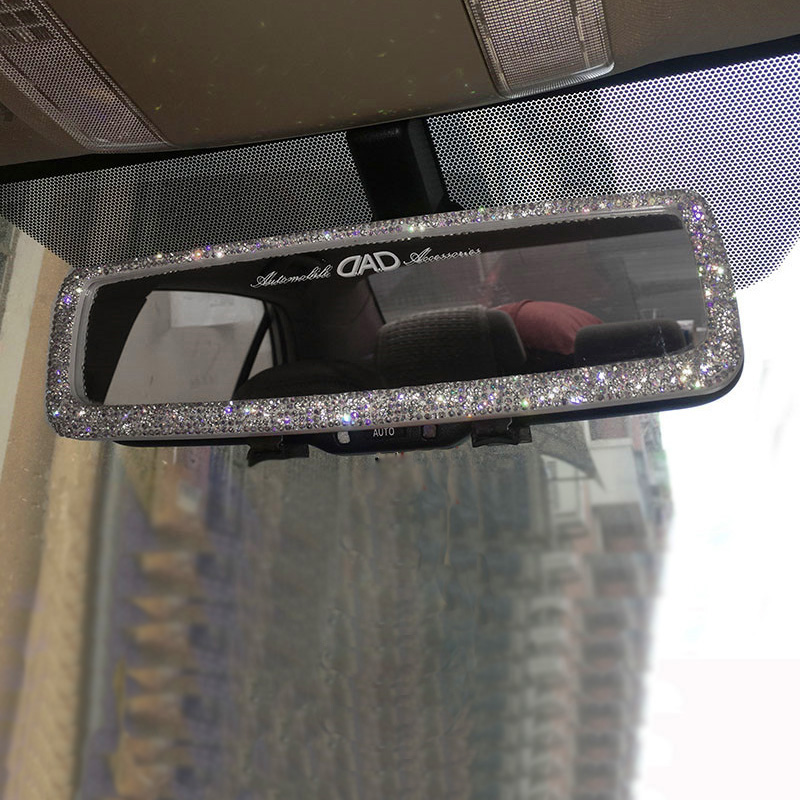 Rearview-Mirror-Decor Hanging-Ornament Auto-Accessories Crystal Car-Interior Bling-Ball