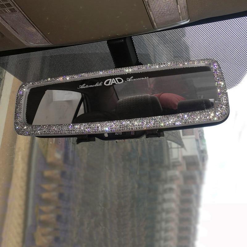 Rhinestone Car Interior Rearview Mirror Decor Charm