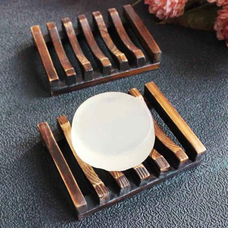 Trapezoid Wooden Handmade Bathroom Wood Soap Dish Box Container Tub ...