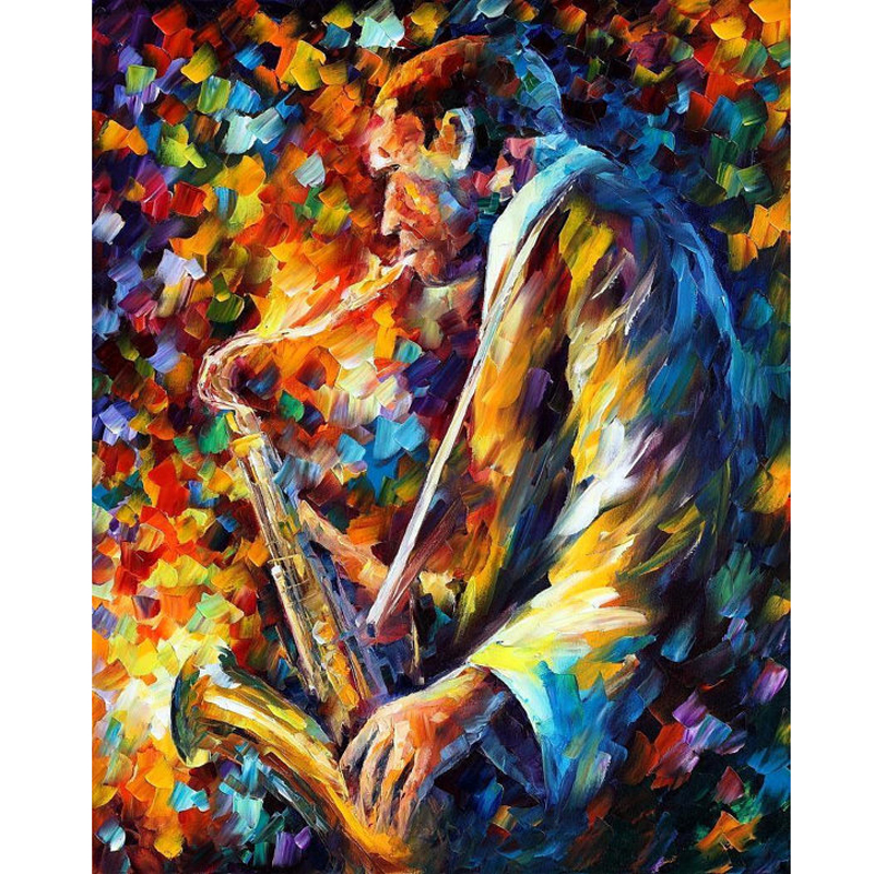 Hand Painted Landscape Abstract John Coltrane Palette font b Knife b font Modern Oil Painting Canvas