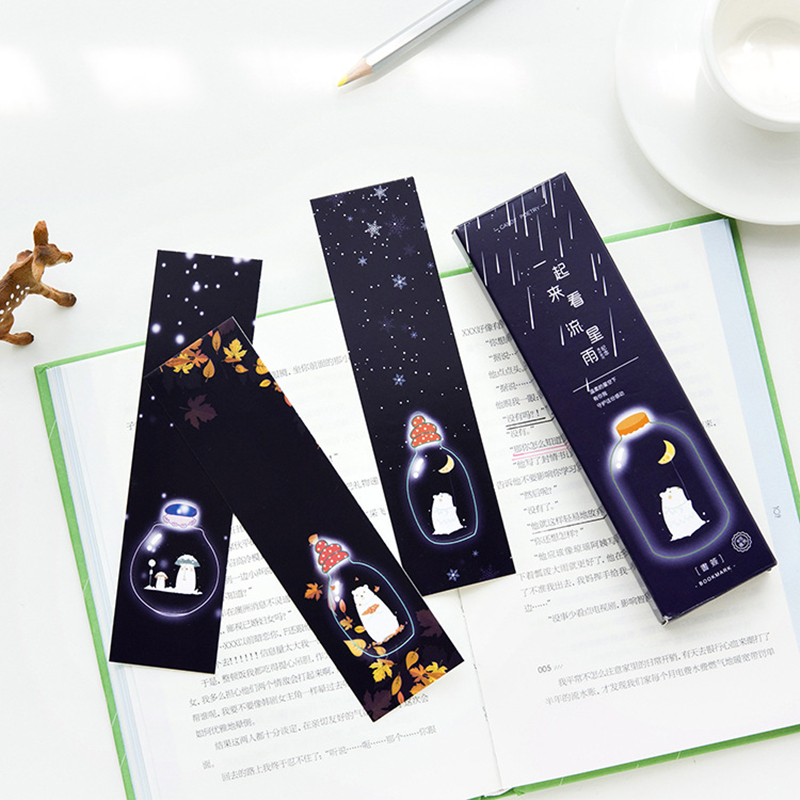 Dutiful 30pcs/pack Creative Stationery Original Paper Exquisite Luminous Bookmark Meteor Shower Together Sticky Notes Kawaii Bookmark Bookmark
