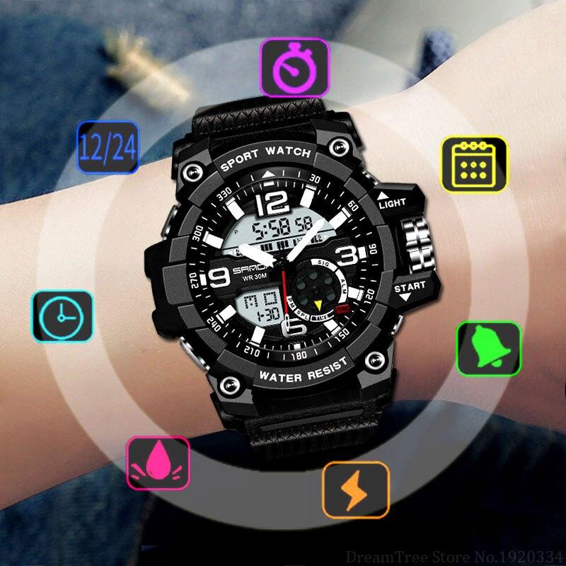 SANDA Deporte Militar reloj hombres superior de la marca de lujo de famoso de LED Digital Reloj de pulsera hombre reloj para hombre reloj Masculino