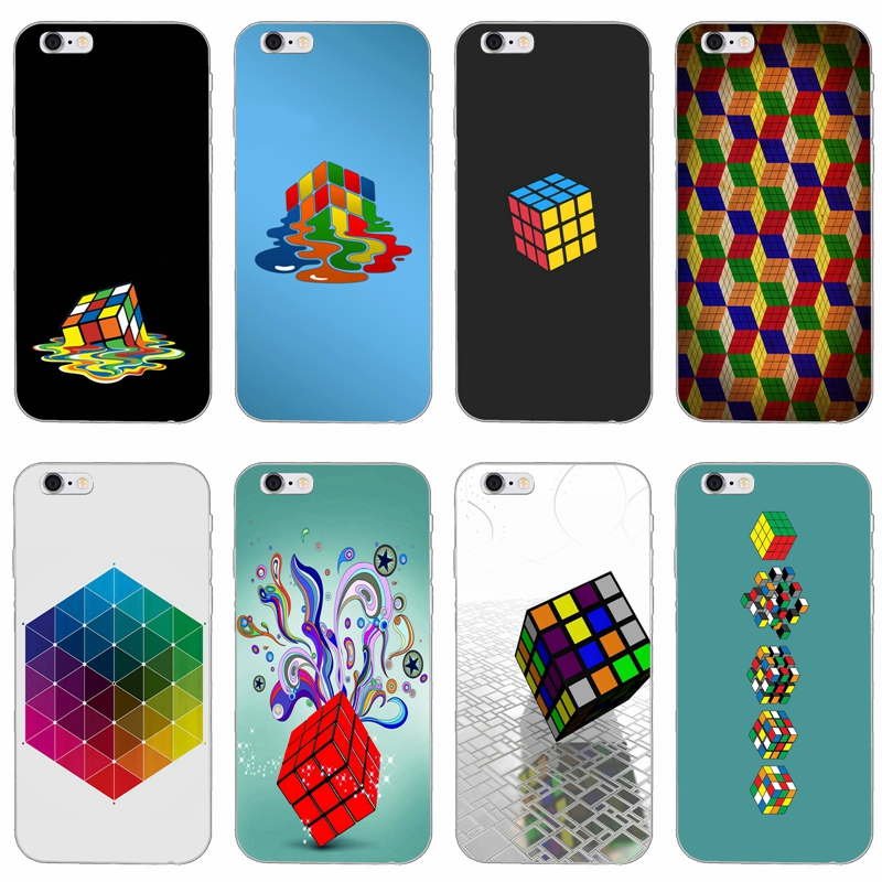 Rubiks Cube Big Bang Theory Heart Slim Silicone Soft Phone Case For Iphone X Xr Xs Max 8 7 6 6s Plus 5 5s 5c Se 4 4s Phone Bags & Cases Half-wrapped Case
