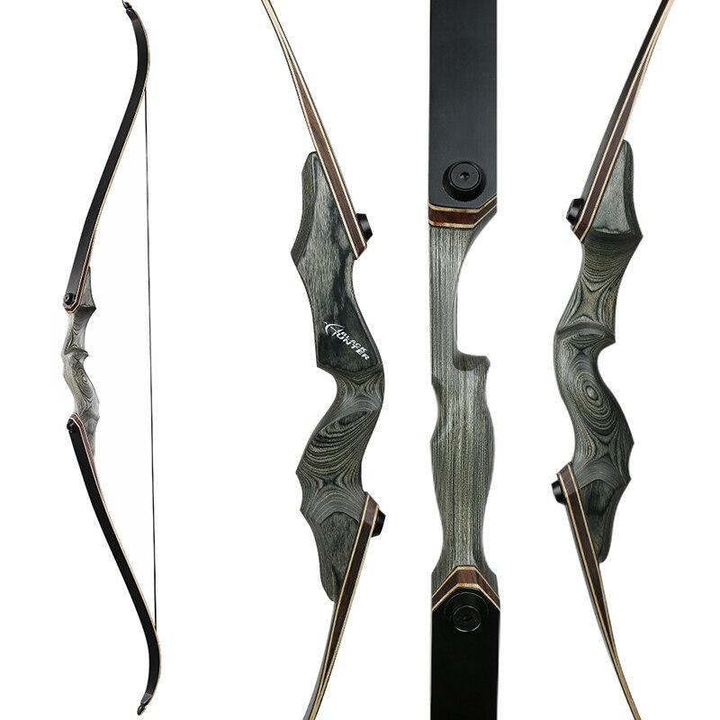 Toparchery 30/40/50lbs 60 pulgadas tomar caza arco de madera vertical arco recurvo arco nueva tecnología miembros arco de tiro al aire libre - 2