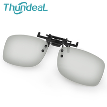 ThundeaL 2Pcs Passive 3D IMAX Glasses Frame Thicknes Framework 0.42mm Polarized Plastic Lenses for Cinema Movie VR 3D Glasses