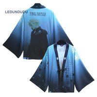 Final Fantasy Kantai Chiffon Pajamas Cloaks Cosplay Costume Yukata Kimono Cloud Strife Coat Bathrobes